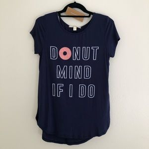 "🆕 NWT Francescas ""Donut Mind If I Do"" Graphic Tee"